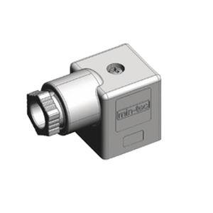 connecteur d'alimentation électrique / DIN / carré / à angle droit