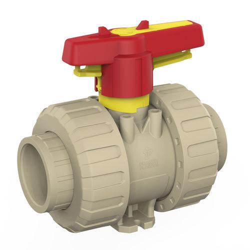 vanne à boisseau sphérique / manuelle / pour eau potable / modulable