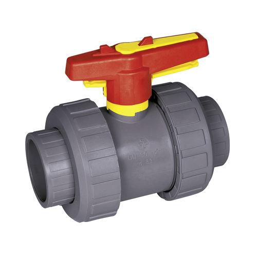 vanne à boisseau sphérique / manuelle / pour eau potable / en PVC