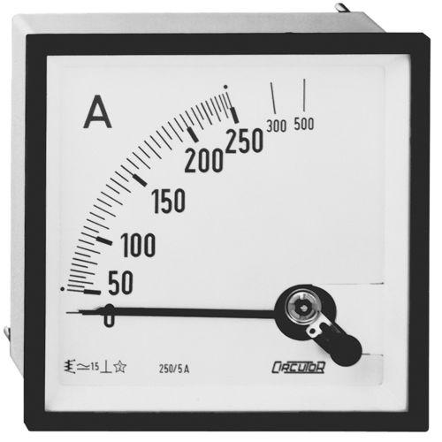 ampèremètre AC / analogique / monté en panneau