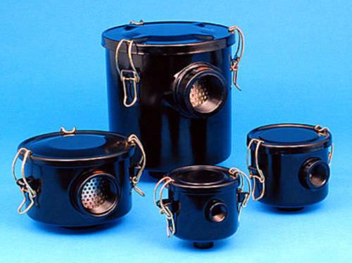 carter de filtre à cartouche / pour liquide / en acier