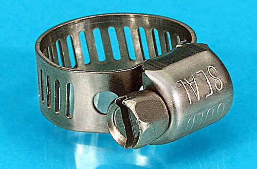 collier de serrage en acier inoxydable / à vis / réutilisable