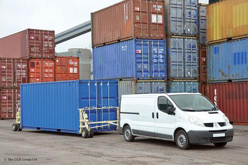 remorque à 2 essieux / pour la construction navale / porte-conteneur