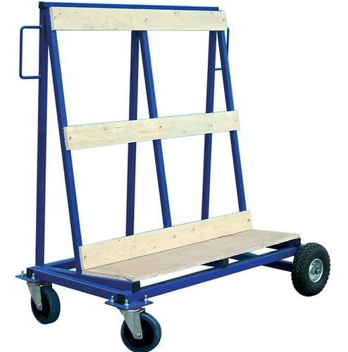 chariot de stockage / en métal / porte panneau / compact