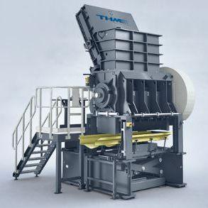 granulateur à rotor / pour déchêts en matières plastiques / pour métaux / pour pneus