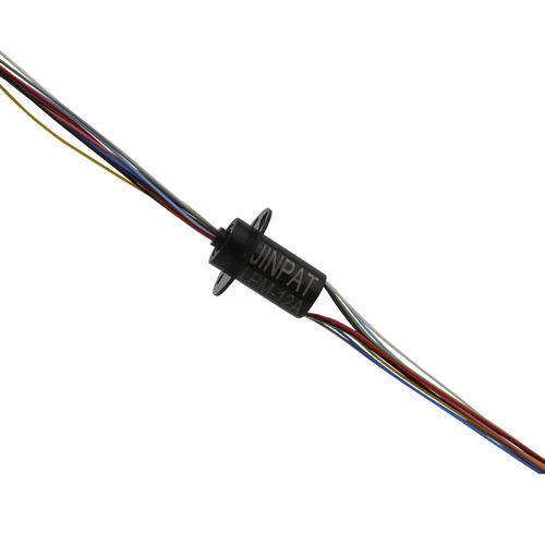 collecteur tournant électrique / à capsule / pour éclairage à LED / 12 circuits