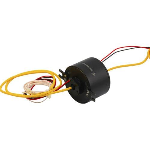 collecteur tournant électro-optique / de fibre optique / arbre traversant / en aluminium