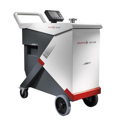 détecteur de fuites à l'hélium / roulant / avec afficheur numérique / pour test d'étanchéité