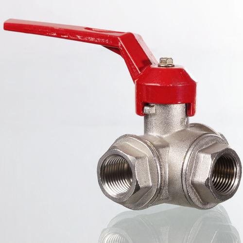vanne à boisseau sphérique / à levier / de contrôle / pour l'eau