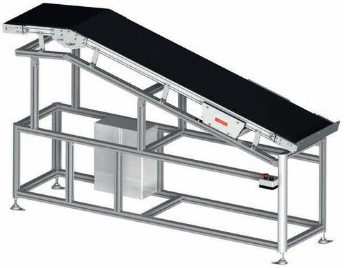convoyeur incliné / à bande / modulaire