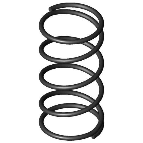 ressort de compression / à fil / en acier au carbone