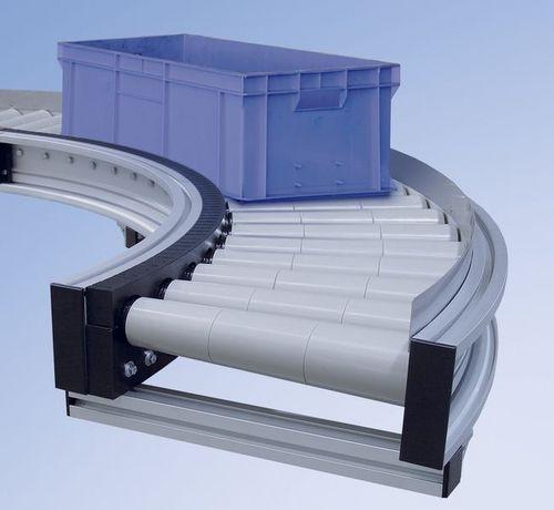 convoyeur à rouleaux motorisés / horizontal / courbe