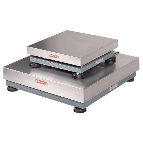 balance à plate-forme / avec indicateur séparé / numérique / en acier inoxydable