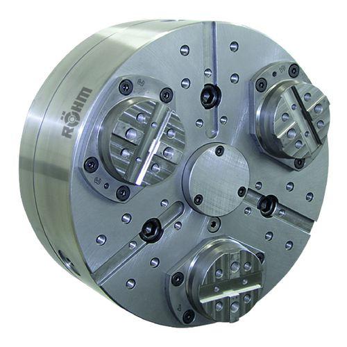 mandrin automatique / 3 mors / sans passage au centre / pour pièces à usiner