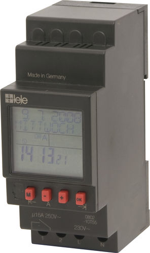 interrupteur horaire numérique / sur rail DIN / avec horloge astronomique intégrée