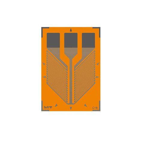 jauge de contrainte en cisaillement à double grille / de haute précision / mesure de force / souple