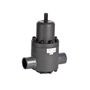 vanne de réduction de pression / à membrane / à souder / en PVC
