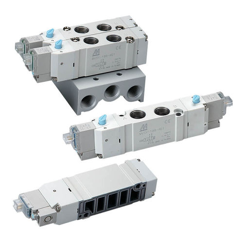 distributeur pneumatique à tiroir / actionné par solénoïde / 5/2 voies / 5/3 voies