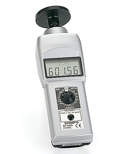 tachymètre à contact / portatif / numérique