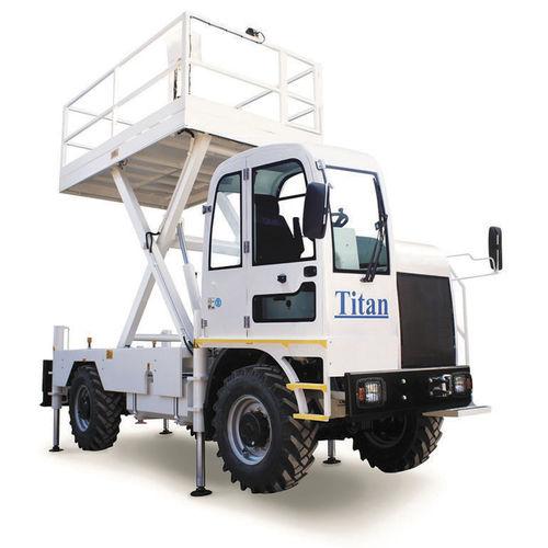 nacelle élévatrice à ciseaux mobile / pour mine souterraine / diesel