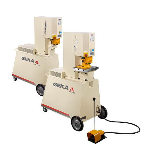 poinçonneuse semi-automatique / hydraulique / pour barres en fer / portable