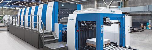 machine d'impression offset feuille à feuille / à 2 couleurs / à 3 couleurs / à 4 couleurs