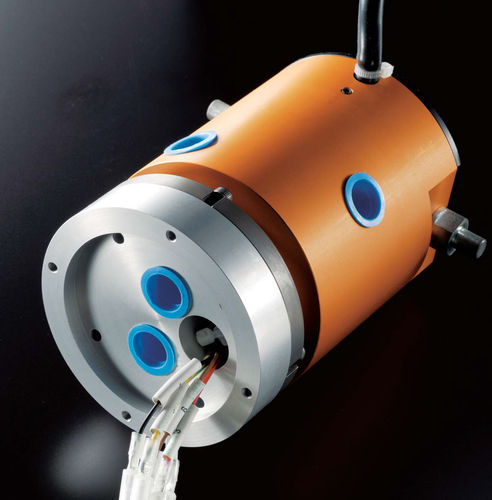 collecteur tournant électrique / pneumatique / pour table rotative / compact