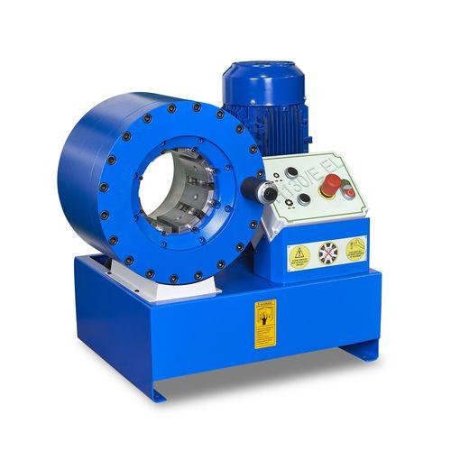 machine de sertissage de tuyau flexible / pour flexible hydraulique / automatique / hydraulique