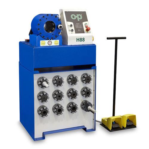 sertisseuse de tuyau flexible / pour flexible hydraulique / semi-automatique / hydraulique