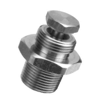 buse de pulvérisation / à cône creux / en acier inoxydable / mâle