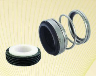 garniture mécanique à soufflet / pour pompe / en acier inoxydable / en caoutchouc