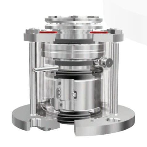 garniture mécanique à double cartouche / multiressort / pour agitateur / pour arbre de transmission