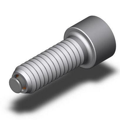 vis à tête cylindrique / à six pans creux / en acier inoxydable / à bille orientable