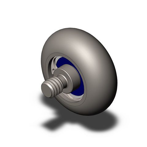galet de roulement / en acier inoxydable