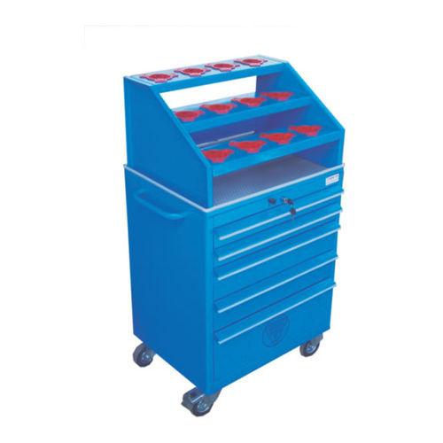 chariot porte-outils / de stockage / en métal / à étagères
