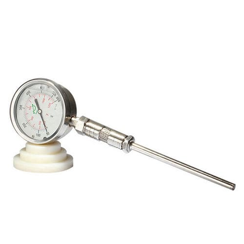 thermomètre analogique / à insertion / en acier inoxydable / IP65