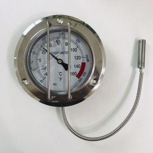 thermomètre à dilatation de gaz à capillaire / à lecture directe / fixe / à bride
