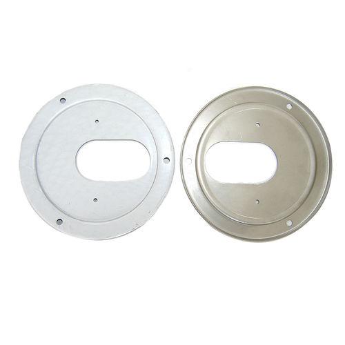 bride pour capteur de température / en acier inoxydable / à collerette / ronde