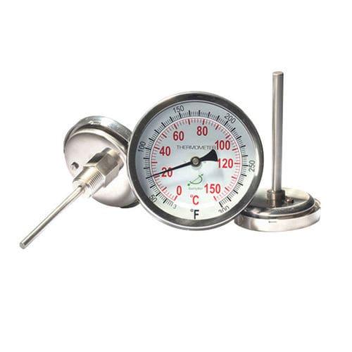 thermomètre bimétallique / analogique / à visser / en acier inoxydable