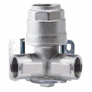 manifold 2 voies / en laiton nickelé / pour tuyaux