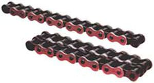 chaîne de transmission de puissance / en métal chromé / à rouleaux