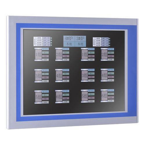 moniteur TFT-LCD / à écran tactile résistif / à écran tactile résistif à 5 fils / 12