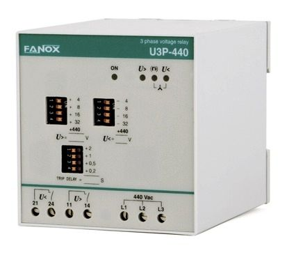 relais de protection de tension / d'absence de phases / d'ordre de phases / triphasé