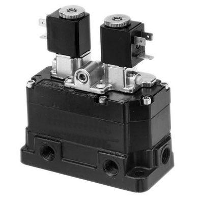 distributeur pneumatique à clapet / actionné par solénoïde / actionné pneumatiquement / 3/2 voies