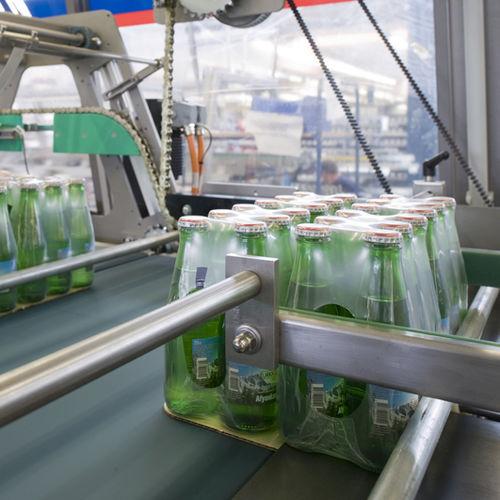 fardeleuse totalement automatique / pour bouteilles / de boisson / pour film thermorétractable