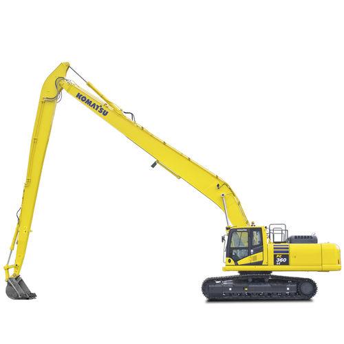pelleteuse intermédiaire / sur chenilles / diesel / pour chantier de construction