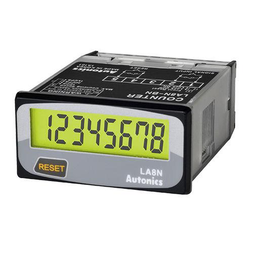 compteur de temps / numérique / compact / pour montage sur panneau