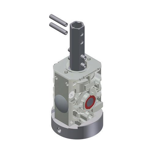 réducteur à couple conique / orthogonal / 5 - 10 Nm / compact