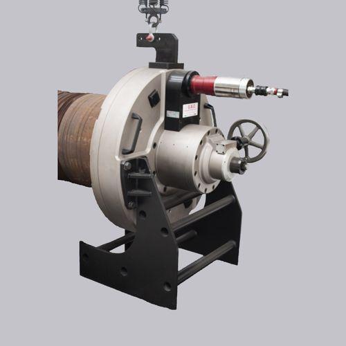 chanfreineuse pneumatique / hydraulique / mobile / pour extrémités de tubes