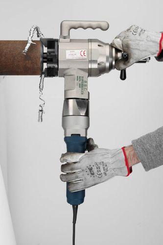 chanfreineuse électrique / pneumatique / portable / pour extrémités de tubes